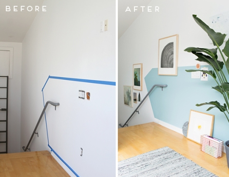 before-after-blue-halfwall-office-makeover