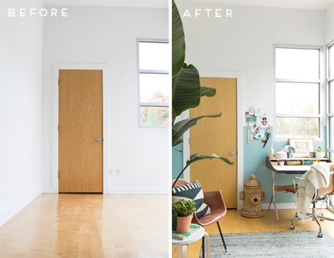 before-after-modern-blue-office-makeover